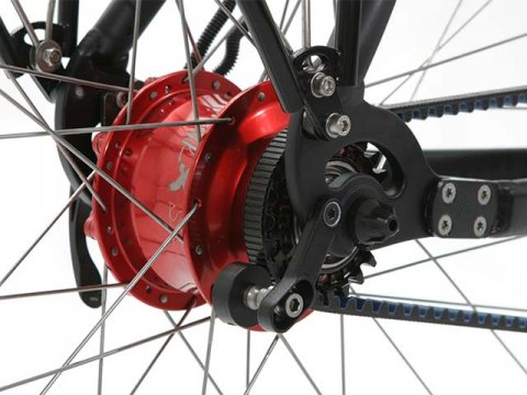 Rohloff versnelling naaf rood